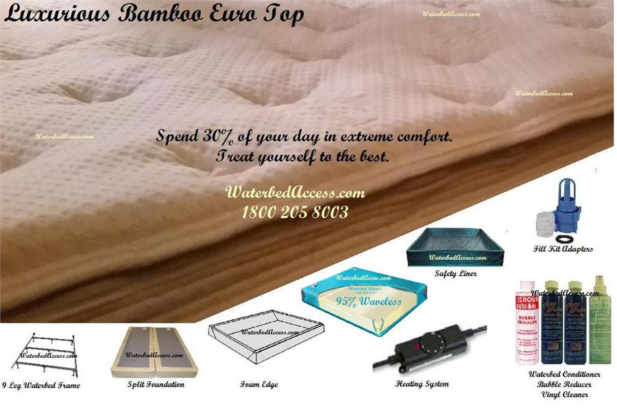 Queen Softside Waterbed With Bamboo Euro Top Amp 95