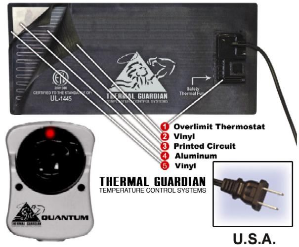 Quantum 300 Watt Hardside Waterbed Heater 1 800 205 8003