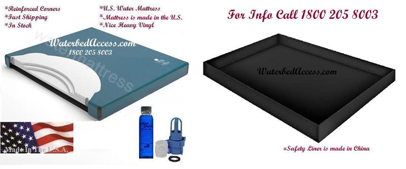 80 Semi Waveless Waterbed Mattress And Liner For California King