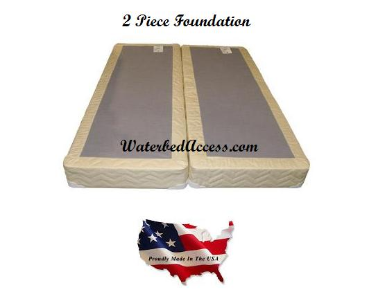 KING SOFTSIDE WATERBED w/ Organic Cotton Pillow Top Mattress & 90 ...