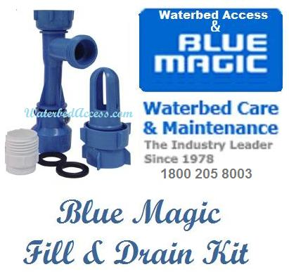 Blue Magic Fill and drain kit is designed to drain free flow and basic semi wave waterbed mattresses