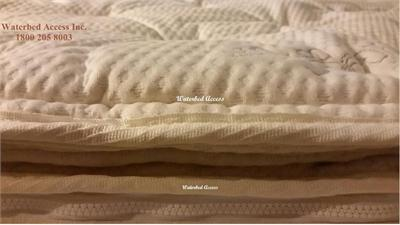 If your looking for a very comfortable zipper pillow top cover for your softside waterbed then look no further. This cover is very soft and breathable with your comfort in mind. The other material is a very highend organic cotton. Buy the best for less.