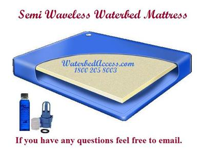 This semi wave waterbed mattress is for california king, queen and super single hardside waterbeds. It has one layer of fiber which reduce movement to about 8-10 seconds. We have it our lowest price and we have fast delivery.