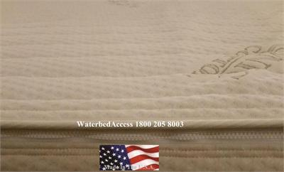 Our organic cotton zipper for softside waterbed mattresses is extremely breathable and it is available in many different depth. The very top of the cover can unzip off completely with out having to drain your waterbed. This cover is designed for comfort.