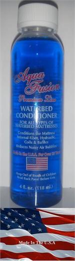 Our premium waterbed conditioner is the best waterbed conditioner for hardside waterbeds. It is made right here the U.S. and it is perfect for our semi wave less waterbed mattresse. It is very important to use waterbed conditioner to keep the water fresh.