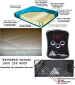 Waterbed mattress packages and kit for california king, queen and super single waterbeds