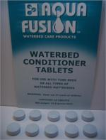 Waterbed conditioner tablets for softside waterbed mattress. This tablet conditioner is more popular for soft side waterbed with either tubes or cylinders.