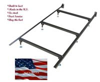 The twin 6 leg bed frame is manufactured by Glidaway right here in the U.S.. This has to be the strongest and most reliable bed frame we ever carried. It will support your queen waterbed while distributing the weight to your floor with less pressure.
