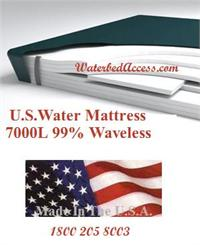 The 7000L 99% waveless waterbed mattress is designed to give excellent blood circulation while keep you body more level. This mattress is very comfortable and it has only a few seconds of movement. Buy the best waterbed mattress at the lowest price.