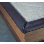 Waterbed Padded Rails for hardside waterbeds. Padded Cap Rails for California king, queen or super single
